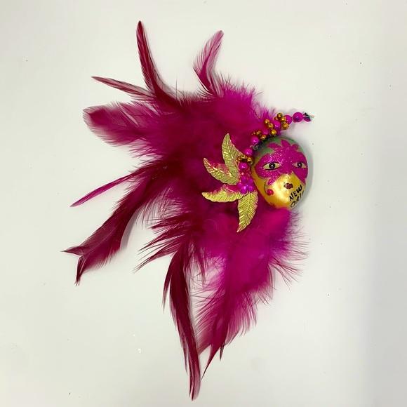 New Orleans carnival mask decor magnet ornament